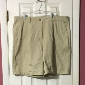 LL Bean women's khaki shorts